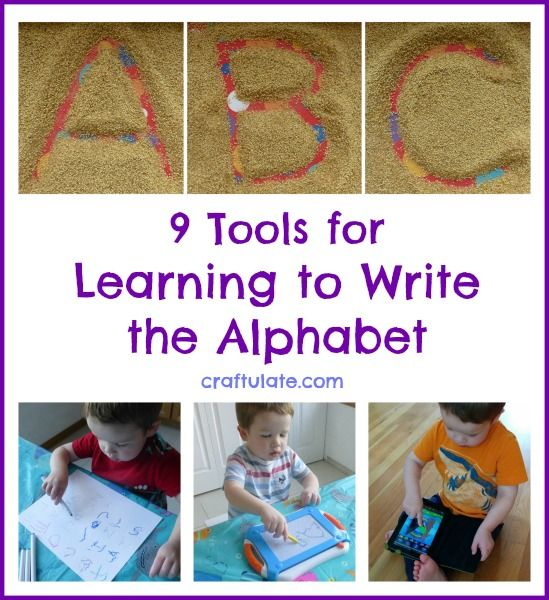 9 Tools for Learning to Write the Alphabet from Craftulate