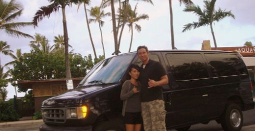 hawaii airport shuttle, honolulu airport shuttle, shuttles honolulu  $23 for two people, one way
