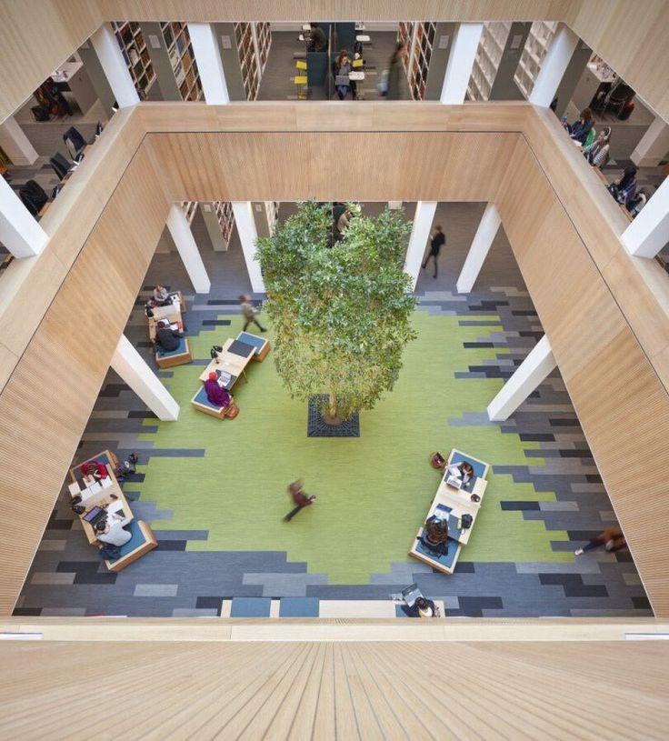 Biophilic Atrium Interface Skinny Planks Architectural