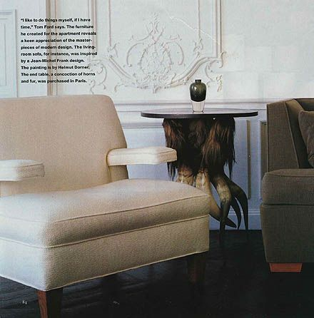 Tom Ford - apartment in Paris - House and Garden January 1998 - photos by Todd Eberle