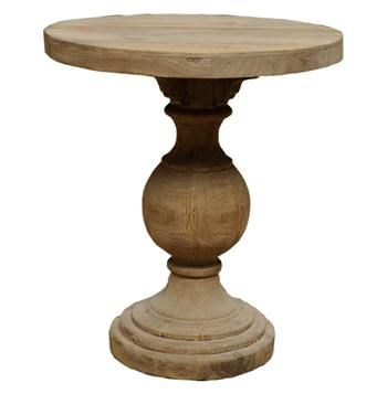 Unfinished Kason Reclaimed Wood French Country Pedestal Table #kathykuohome