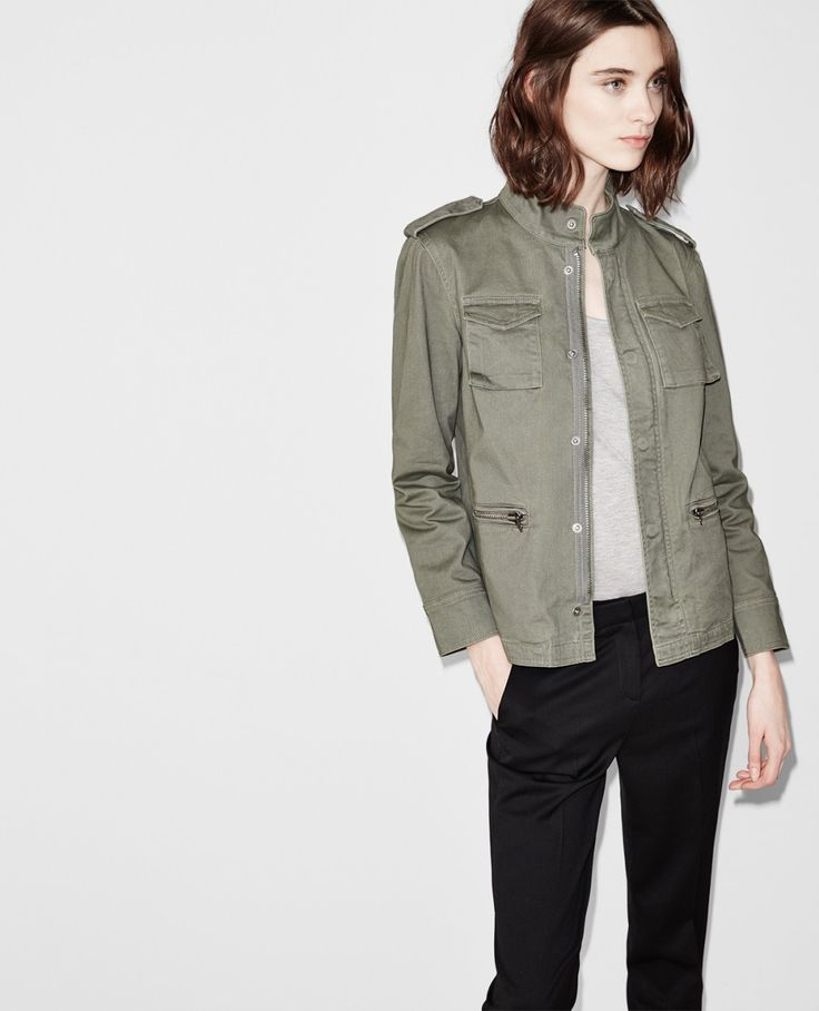 veste l g re style militaire blousons femme the kooples coat and jacket pinterest. Black Bedroom Furniture Sets. Home Design Ideas