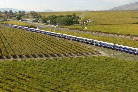 Op deze 1.600 kilometer lange trip met de Blue Train tussen Pretoria en Kaapstad doe je onder andere de diamantmijnen aan en het prachtige Zuid-Afrikaanse landschap krijg je erbij. Deze trein heeft twee soorten suites: deluxe en luxury. Luxueus is het dus zeker. #BlueTrain #ZuidAfrika