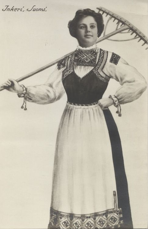 Traditional Suomi (finnish) dress     http://24.media.tumblr.com/tumblr_mb2tctztm81r0i8wko1_500.jpg