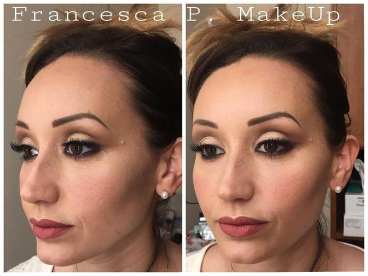 Oggi prova sposa ������ Trucco leggero sugli occhi per definire meglio la piega ed allungare l'occhio, ciglia finte a rima intera, contouring correttivo sia in crema che in polvere e rossetto opaco a lunga tenuta ��  Se vi piace, lasciate un like! ���� Per info: ☎️ 3456820437 #bride #bridalmakeup #makeup #makeupbyme #makeuplove #makeuplook #makeuptalk #makeuptalk #makeupartist #makeupoftheday #makeuptutorial #love #life #picoftheday #photooftheday #like4like #follow4follow #instalike…