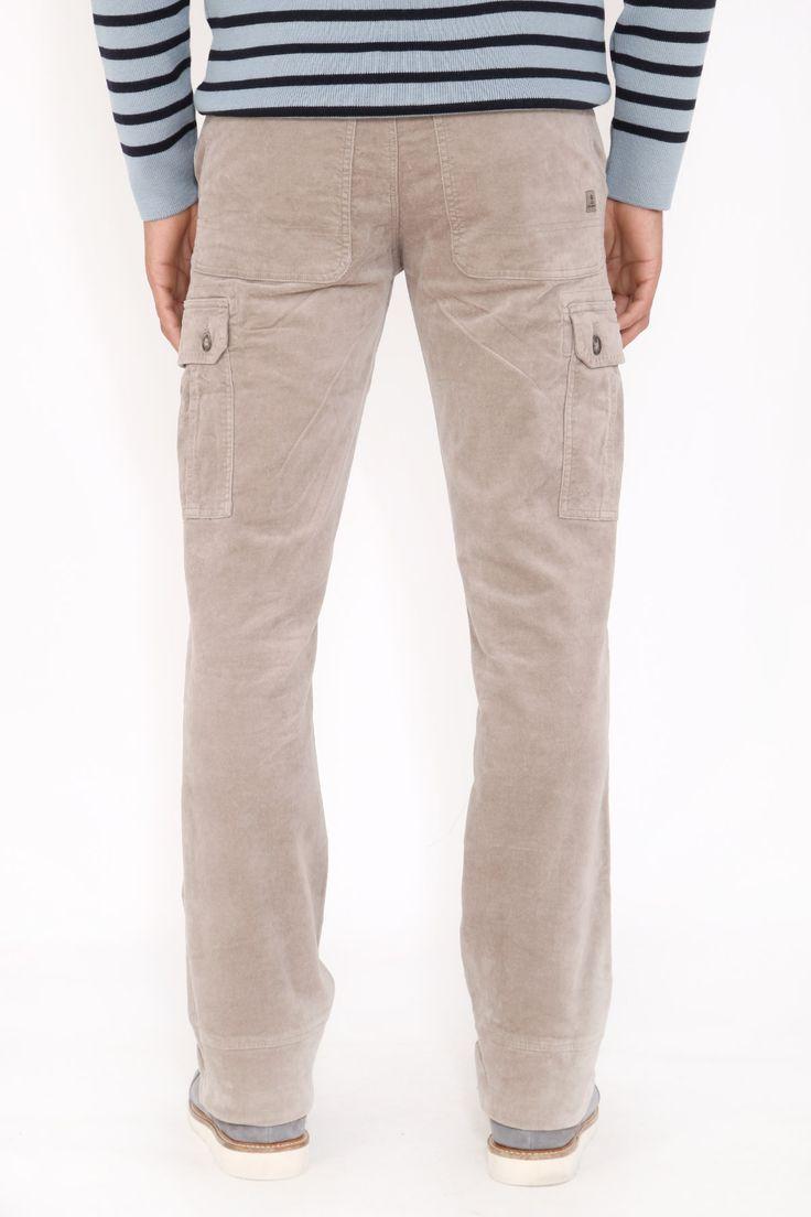 Pantalon velours homme coupe droite CARGO #velours #modehomme