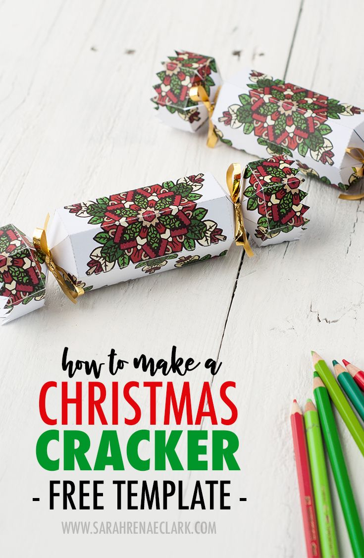 How To Make A Christmas Cracker Free Printable Template And Tutorial For A Diy Christmas Cracker With A Coloring Page Twist Christmas Crackers Diy Christmas Crackers Christmas Diy