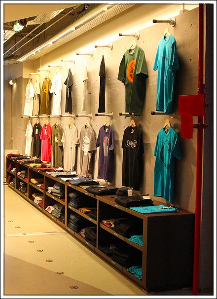 Industrial Display Systems T-Shirt Wall System