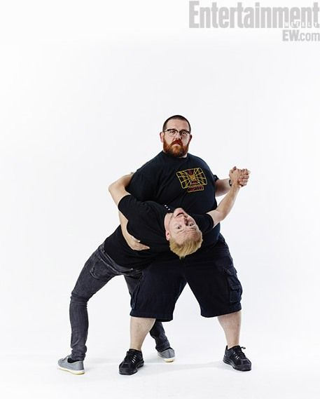Simon Pegg and Nick Frost, Yup, I'd watch any movie they were in!