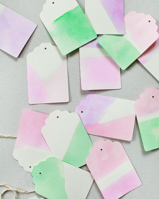 DIY Dip Dyed Gift Tags / Oh So Beautiful Paper