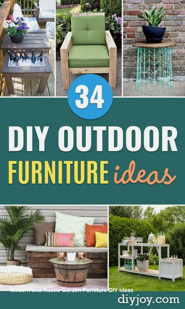 Diy Patio Furniture, How To Make Simple Outdoor Furniture