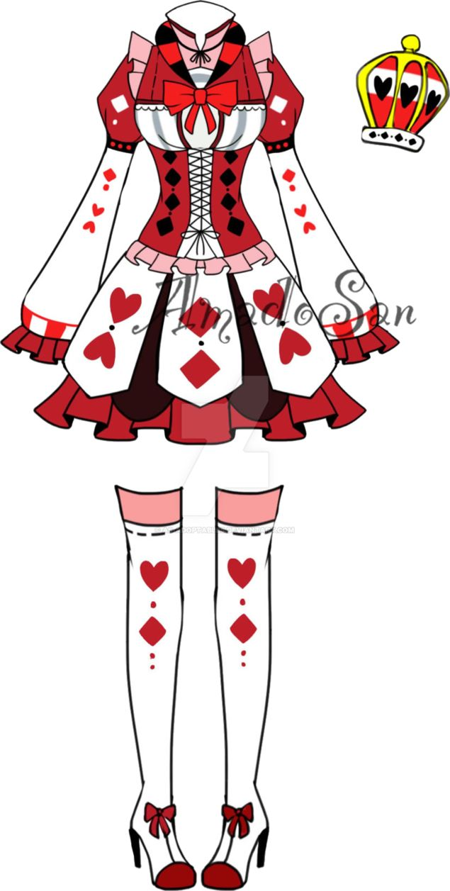 Victorian Queen Of Hearts Outfit2 Adoptable Closed By Asadoptables