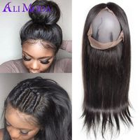 Pre Plucked 360 Lace Frontal Closure 130% Density 8A Brazilian Straight Hair Closure Ear To Ear 360 Lace Frontal 100% Human Hair