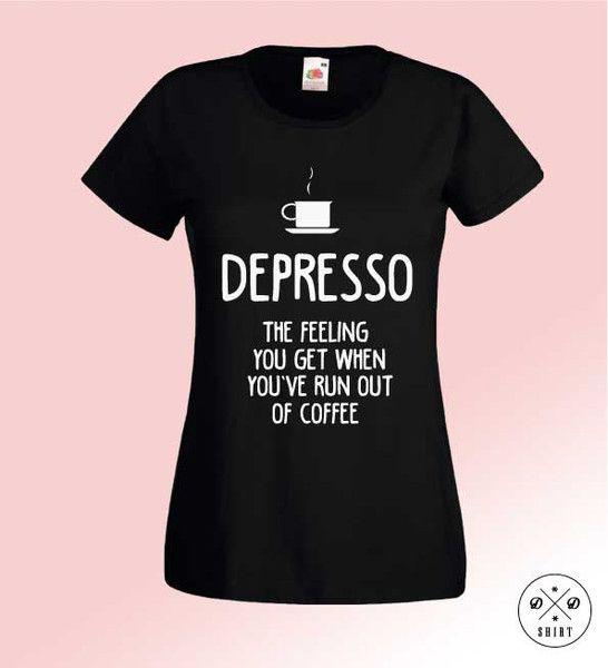 Depresso+Ang,+Damska+koszulka+z+nadrukiem+w+DDshirt+na+DaWanda.com