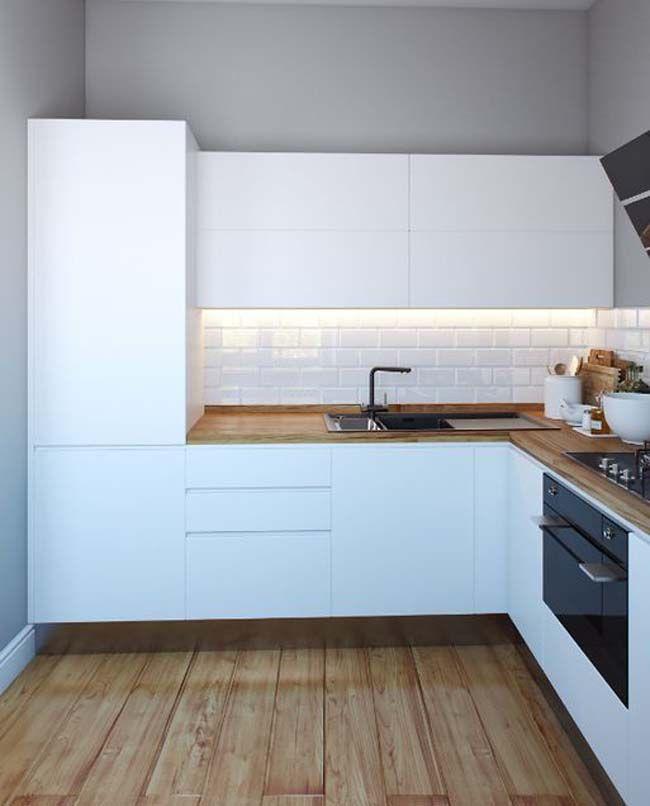 Маленькая белая кухня - всегда в тренде