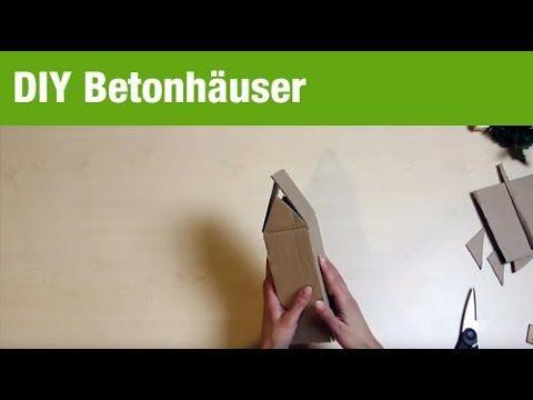 Deko basteln: Betonhäuser für Innen und Außen DIY mit GartenXXL - YouTube