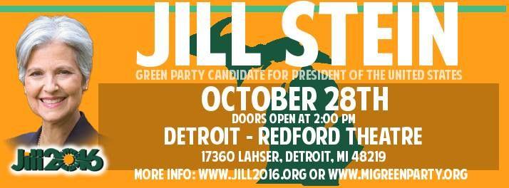 #Detroit Dr Jill Stein Green Party Presidential Candidate Rally #jillstein #steinbaraka #greenparty #nodapl #nomorewar #peace #election #openthedebates #notpp #bethechange #POTUS #jillstein2016 #political