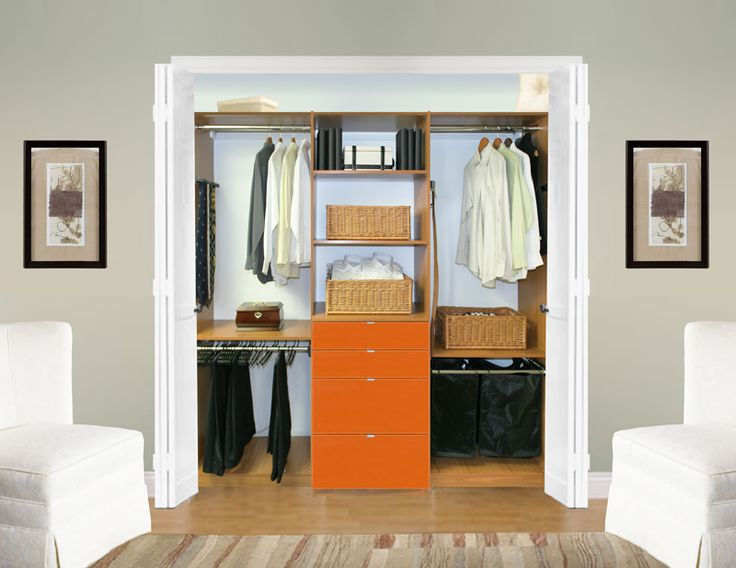built in closets in bedroom