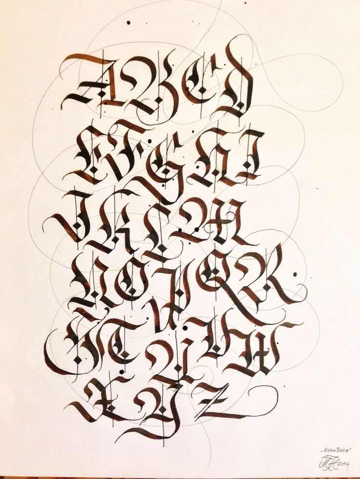 Warmed Up By Writing The Alphabet In Fraktur The
