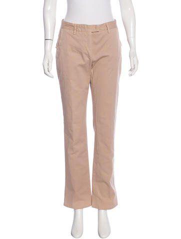 Costume National Straight-Leg Peplum Pants