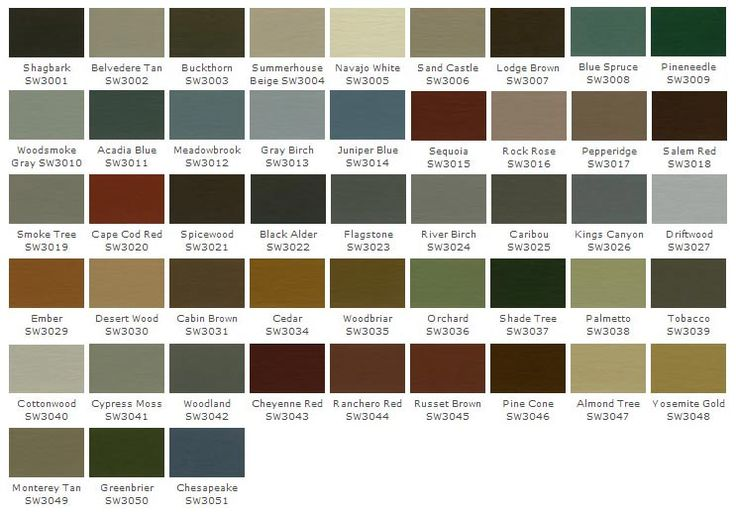 Sherwin williams woodscapes stain paint exterior - Sherwin williams exterior paint colors chart ...