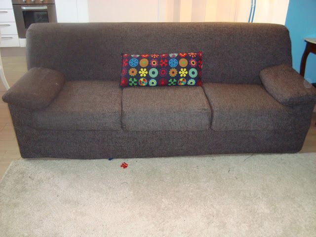 como renovar um sofá gastando pouco.         come  rinnovare divano spendendo poco