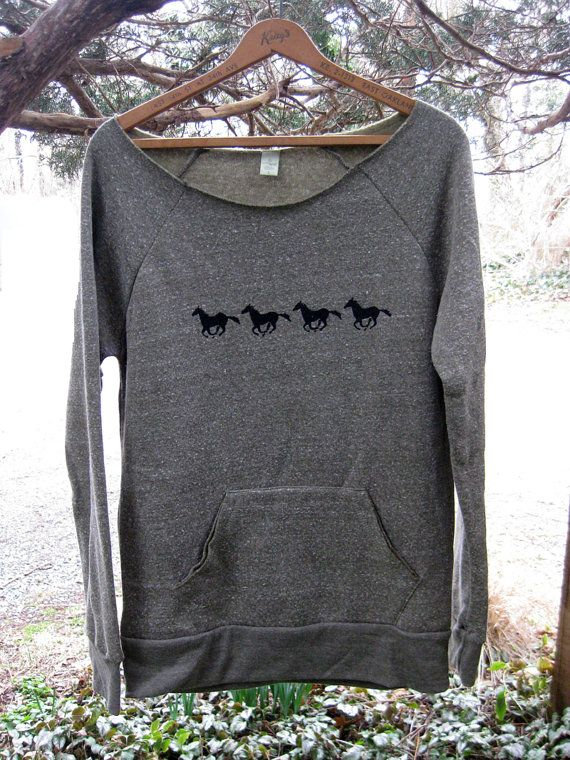 all those in favor say NAY Horse Sweatshirt by nicandthenewfie, $36.00