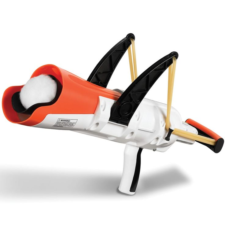 A snowball slingshot. How fun does this look?
