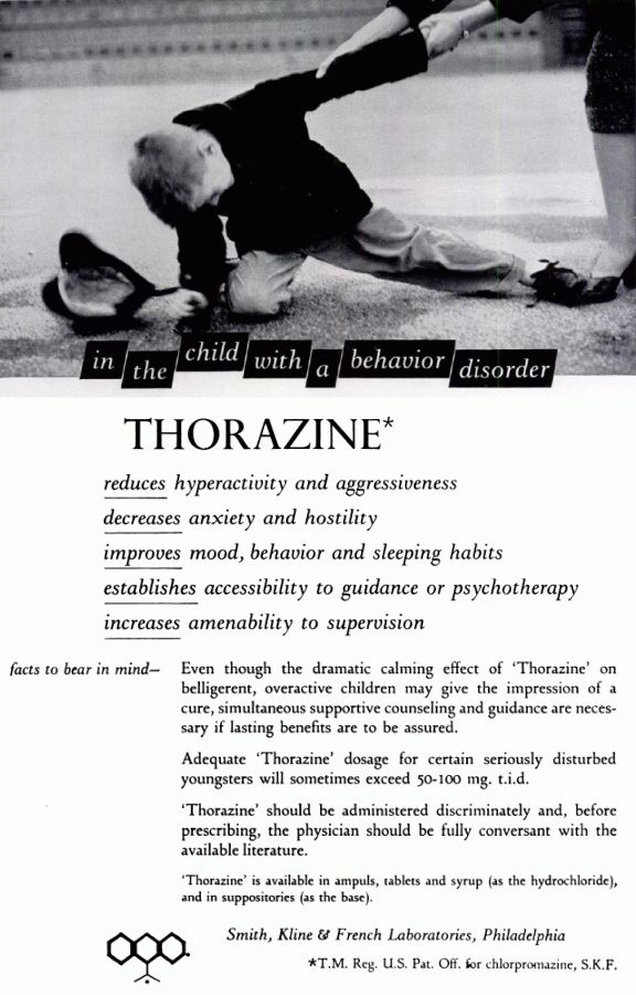 chlorpromazine anxiety disorder