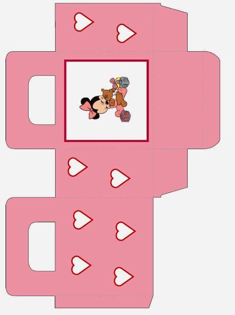 Minnie Bebé: Bolsa para Golosinas para Imprimir Gratis.