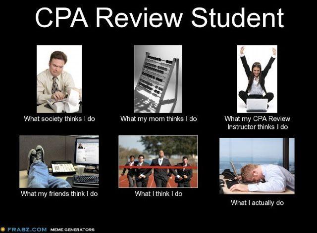 Funny Memes For Accountants : Cpa review student meme exam club grad school