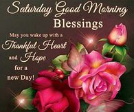 Saturday Good Morning Blessings