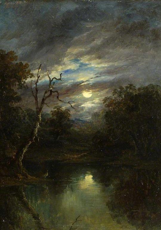 John of Ipswich Moore - Moonlit Landscape