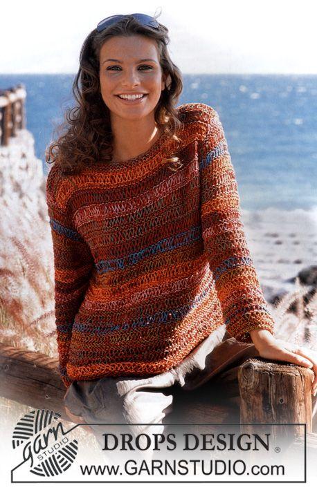 Striped knit sweater- free pattern