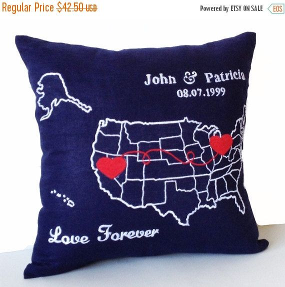 Best US MAP PILLOW Images On Pinterest Decorative Throw - Us map pillow personalized