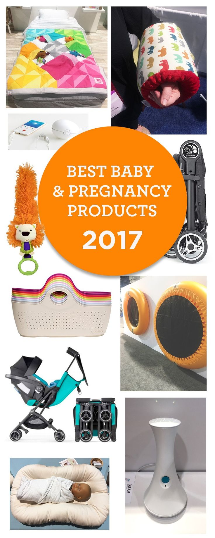 A sneak peek at the best baby and pregnancy products for 2017. From breastfeeding 'water wings' to super compact strollers some of this gear will blow your mind.