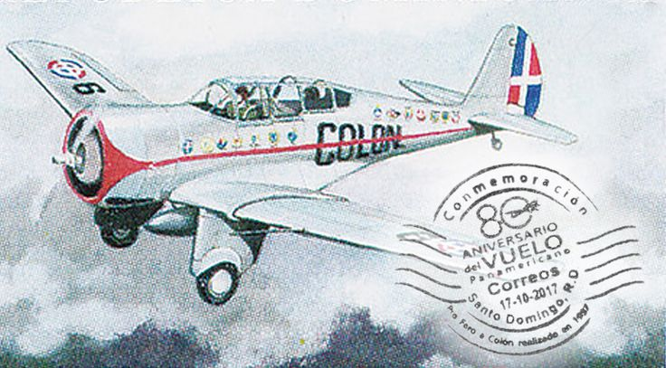 El día 17 de octubre, el INPOSDOM puso en uso un matasellos conmemorativo al 80 aniversario del Vuelo Panamericano Pro Faro a Colón, realizado en el año 1937. Ver el matasellos conmemorativo y la nota de prensa en nuestro blog. #sellosdominicanos #filateliadominicana #filateliarepúblicadominicana #faroacolon #vuelopanamericano
