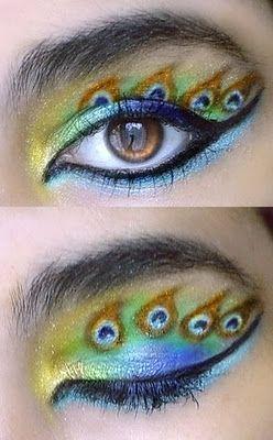 peacock ish: Peacock Feathers, Eye Makeup, Eye Shadows, Makeup Ideas, Eye Make Up, Eyeshadows, Eyemakeup, Eye Art, Peacock Eye