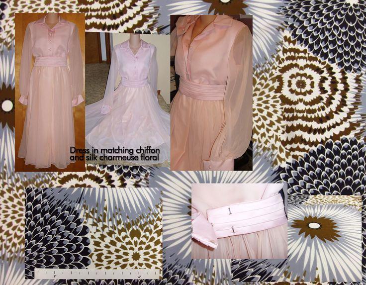 matching Satin and chiffon dress