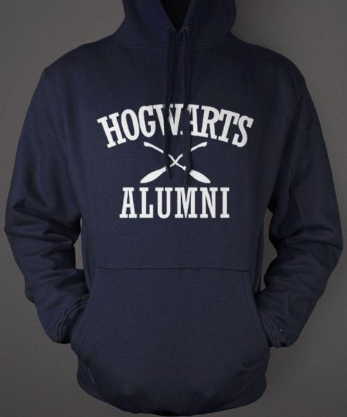 Hogwarts Alumni Hoodie - Harry Potter Blue Sweatshirt