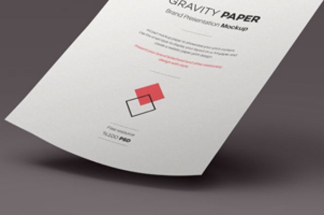 A gravity defying psd A4 paper mockup showcase to help you present all your great print designs in style. Simply use...