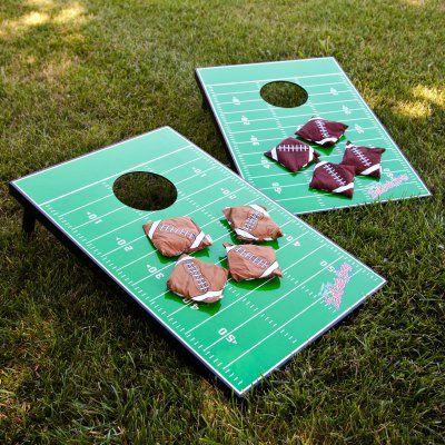 Wild Sports Football Field Tailgate Toss Cornhole Set - GTTF-1