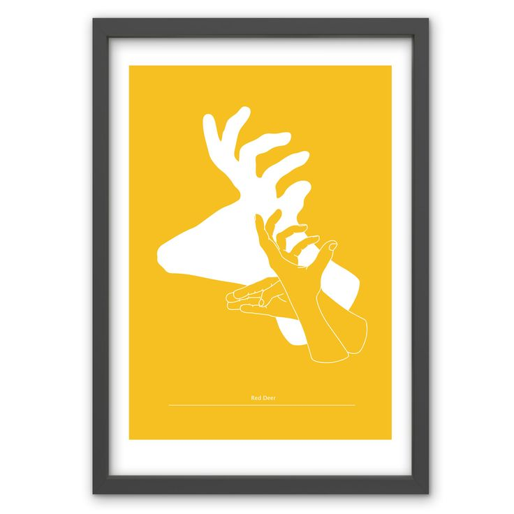 Red Deer in Mustard Yellow - Hand pulled screen print. 50cm x 70cm / 19.6 inches x 27.5 inches. 100% recycled archival quality paper. Printed using water based archival quality eco inks. £40 www.toddjarvis.co