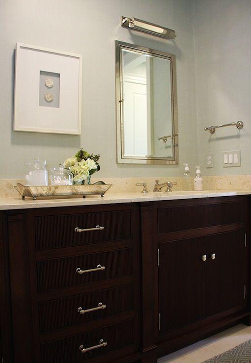 mirrored bathroom vanity trays