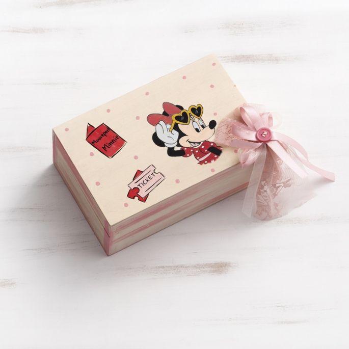 Κουτί Μαρτυρικών βάπτισης Minnie Travel - ΠΑΡΙΣΗΣ   Είδη γάμου & βάπτισης