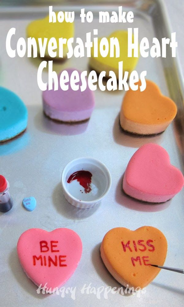 How to make a conversation heart cheesecake - such a sweet Valentine's Day dessert!
