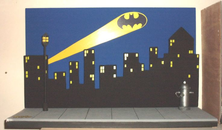 DO THIS AS TABLE BACKDROP Batman and Robin