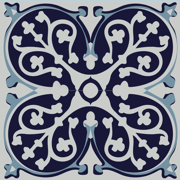 adhésif de carrelage bleu - imitation carreaux de ciment - azulejos bleus