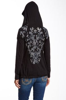 Seven7 Seven7 Ivy Print Hooded Tee