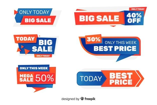 Download Sale Label Collection For Free Banner Design Layout Social Media Design Inspiration Labels